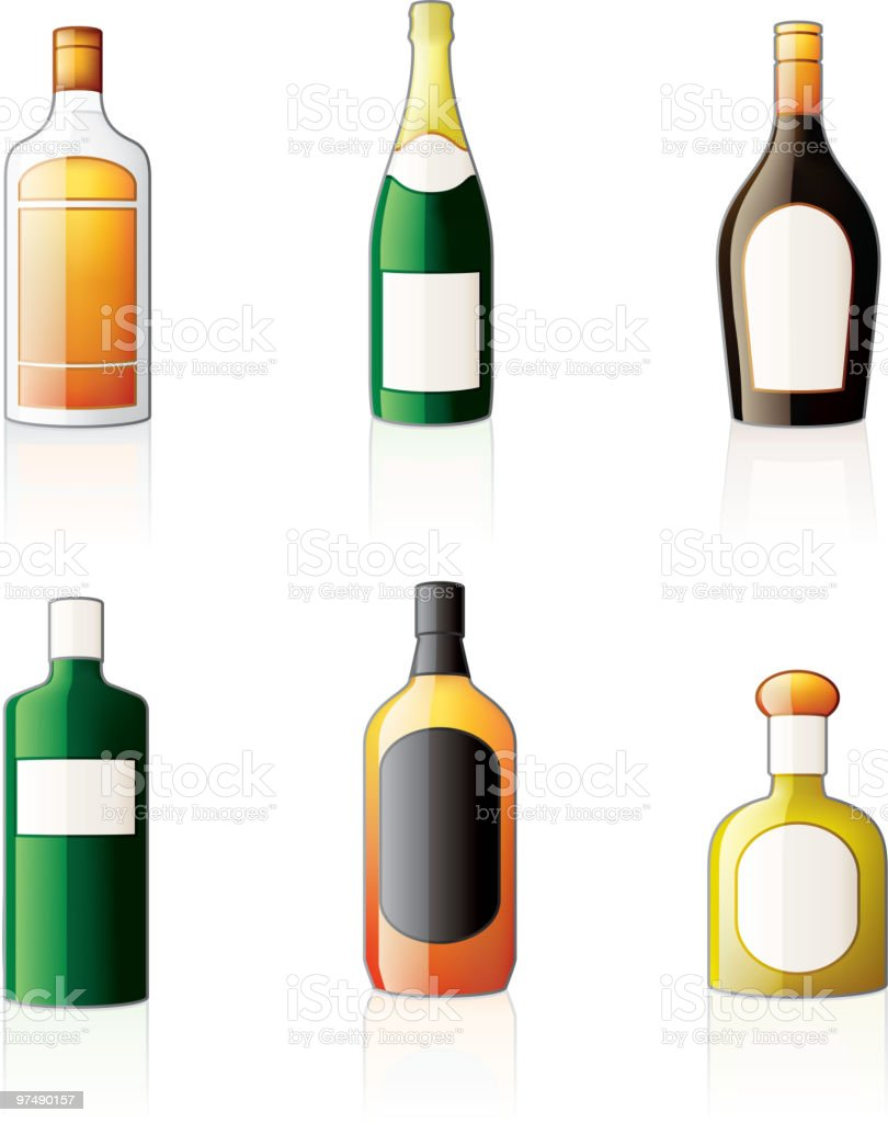 Alcoholic bottles icons set of wine and liquor royalty-free alcoholic bottles icons set of wine and liquor stock vector art & more images of alcohol