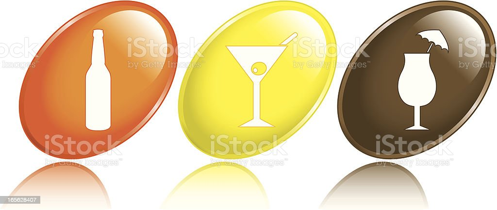 Alcoholic Drink Icons royalty-free stock vector art