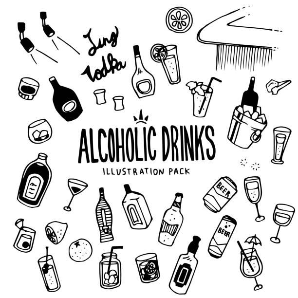 アルコール飲料のイラスト - アルコール飲料点のイラスト素材/クリップアート素材/マンガ素材/アイコン素材