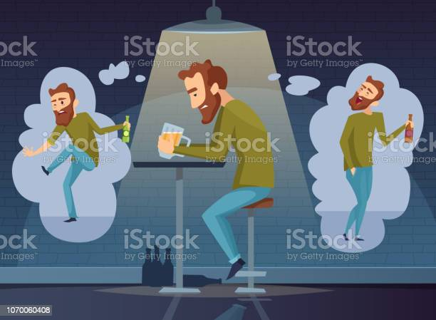 Alcoholism concept addicted man alcoholic dark depression drinking vector id1070060408?b=1&k=6&m=1070060408&s=612x612&h=1skqd pdxrmmtt0g233tm7ls61grv5eseslgkxcyl o=