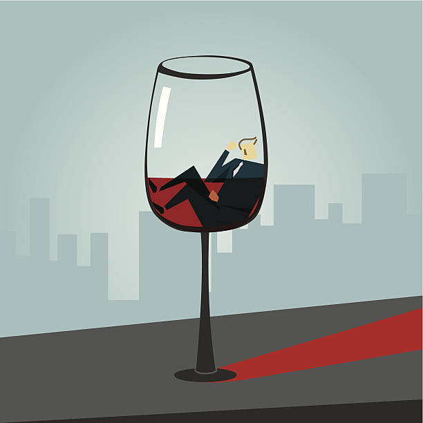 alcoholism - office party stock illustrations, clip art, cartoons, & icons