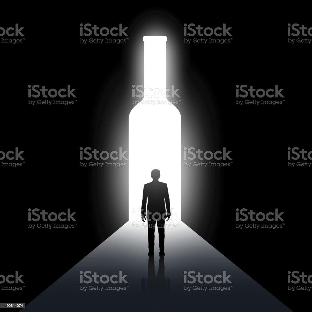 Alcoolismo - ilustração de arte em vetor