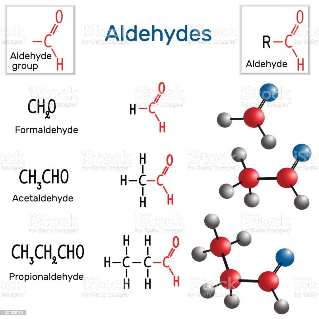 Aldehydes Chemical Formula And Molecule Model Formaldehyde