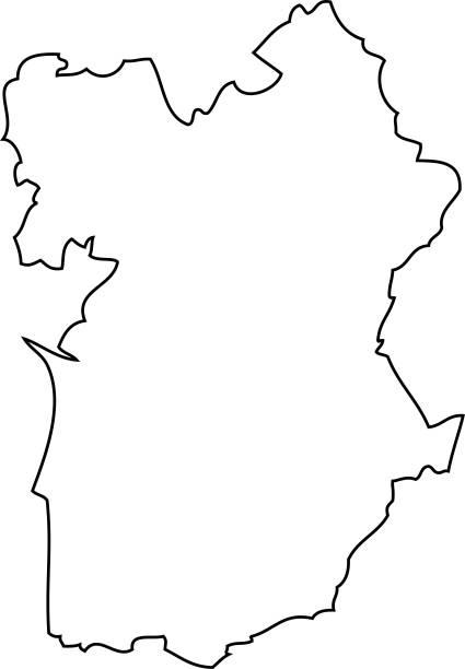 Alentejo. Map region of Portugal - ilustração de arte vetorial