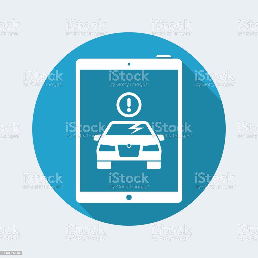 Alert On Tablet For Car Glass Crash Stock Vector Art & More Images