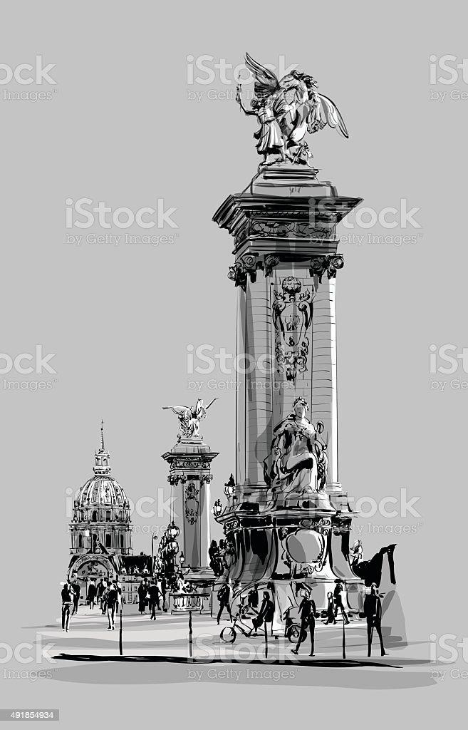 パリのアレクサンドル 3 世橋フ...