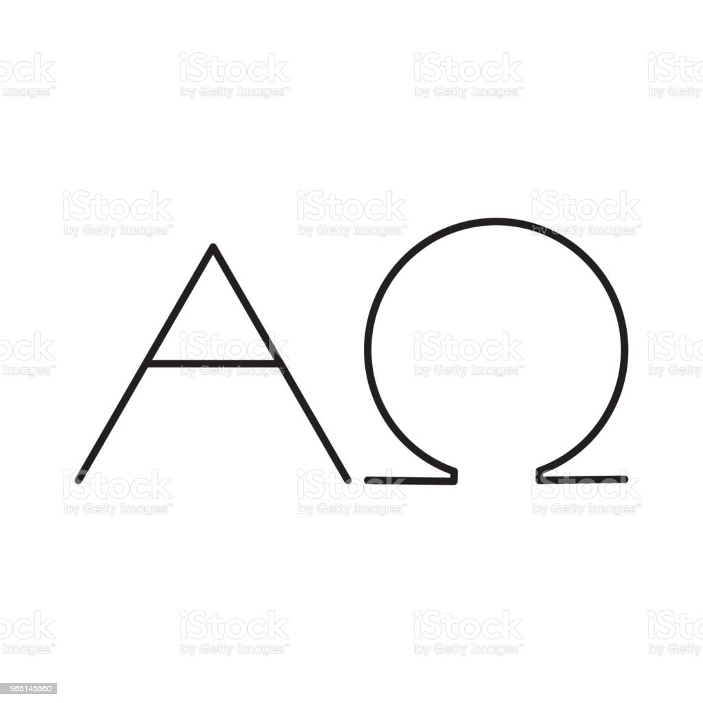 alfa omega line icon royalty-free alfa omega line icon stock vector art & more images of abstract