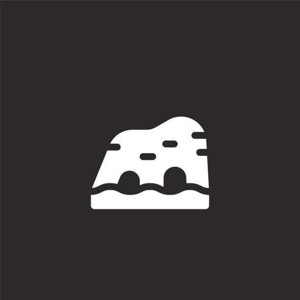 ilustrações de stock, clip art, desenhos animados e ícones de algarve icon. filled algarve icon for website design and mobile, app development. algarve icon from filled portugal collection isolated on black background. - algarve