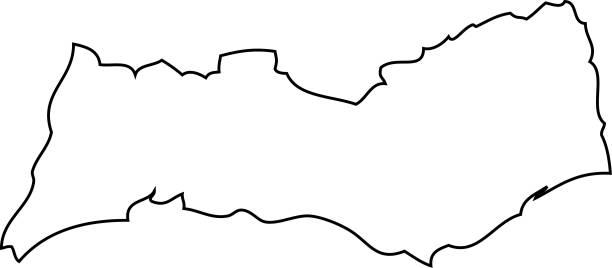 ilustrações de stock, clip art, desenhos animados e ícones de algarve. map region of portugal - algarve