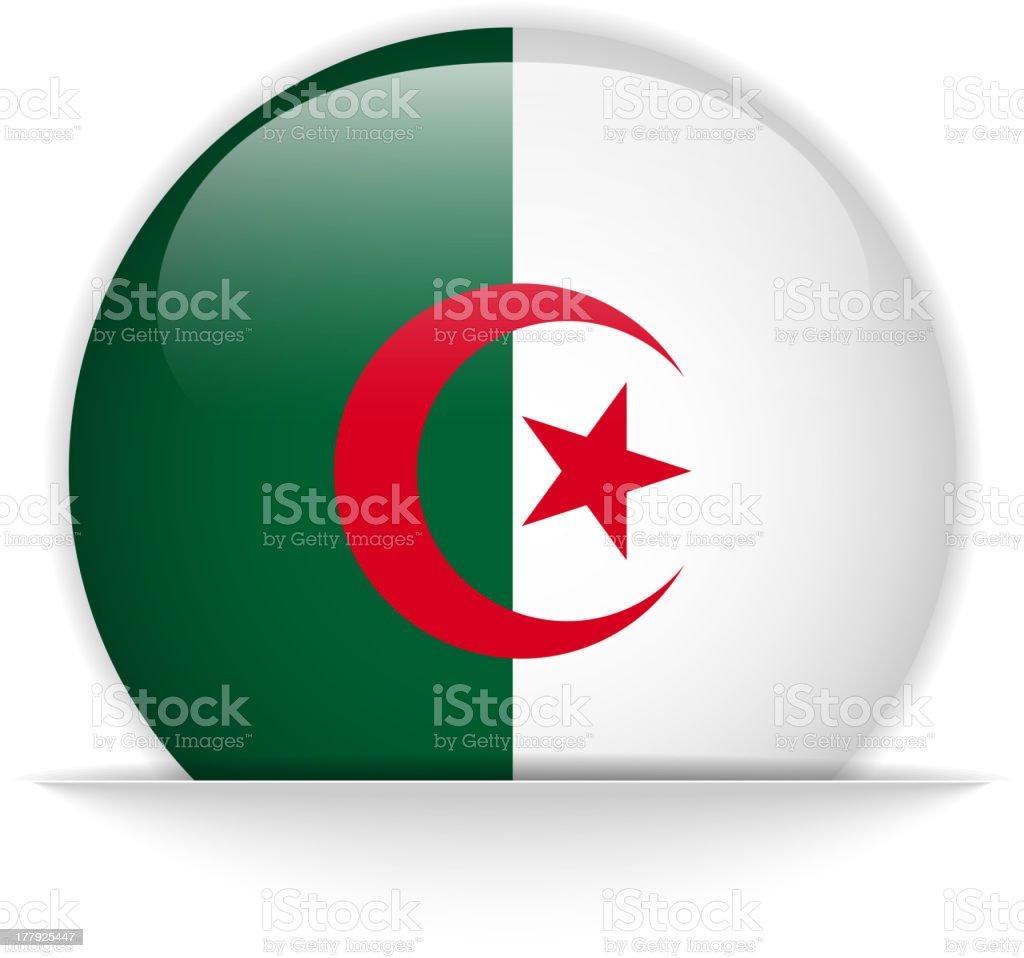 Bouton Brillant De Drapeau Algérien Invisible Vecteurs