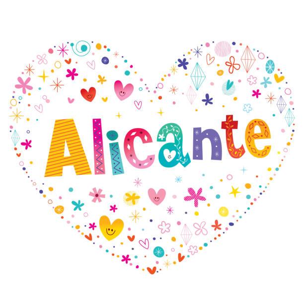 alicante - stadt in spanien - alicante stock-grafiken, -clipart, -cartoons und -symbole