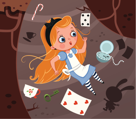 Alice and the rabbit hole