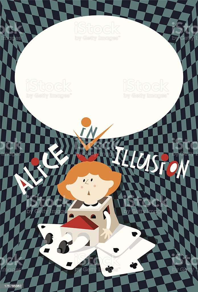 Alice Illusion Frame Stock Vector Art More Images Of Alice In