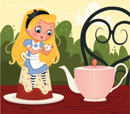 Alice in tea party