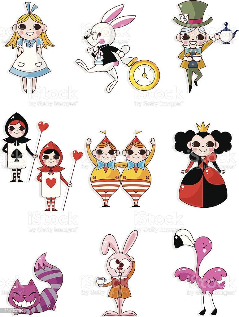 Alice nel Paese delle meraviglie Fumetto - illustrazione arte vettoriale