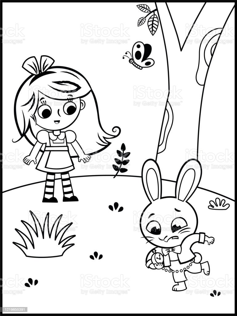 Alice In Wonderland Character Cheshire Cat Coloring Page ... | 1024x770