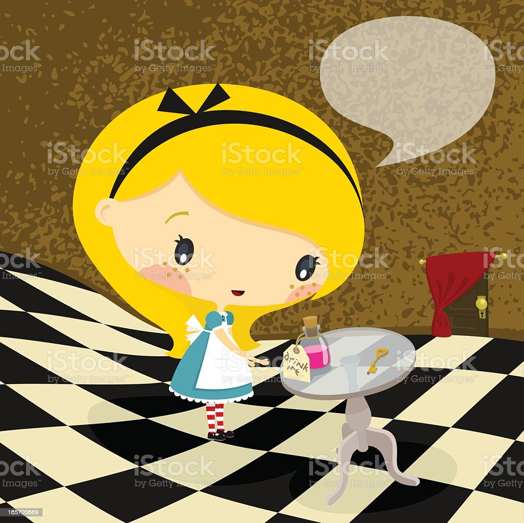 Alice in Wonderland. Part 2 royalty-free stock vector art