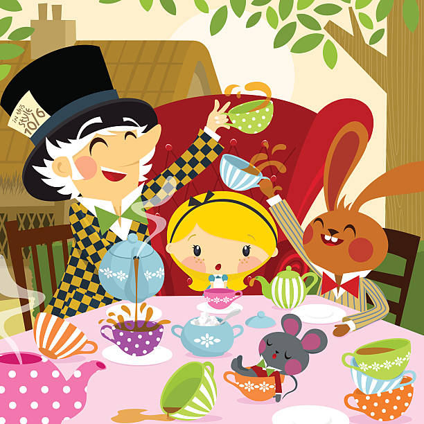 18 Mad Hatter Tea Party Illustrations, Royalty-Free Vector Graphics & Clip  Art - iStock