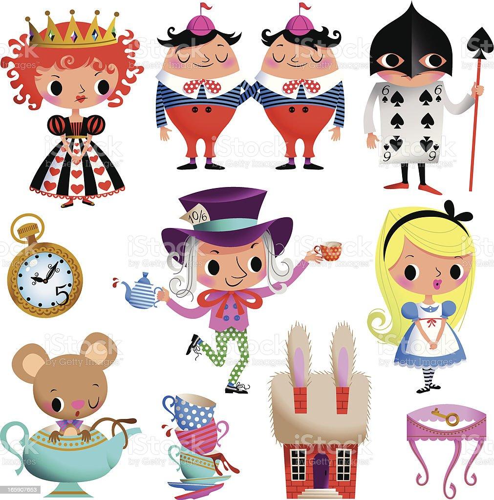 Alice in Wonderland. Part II. royalty-free stock vector art