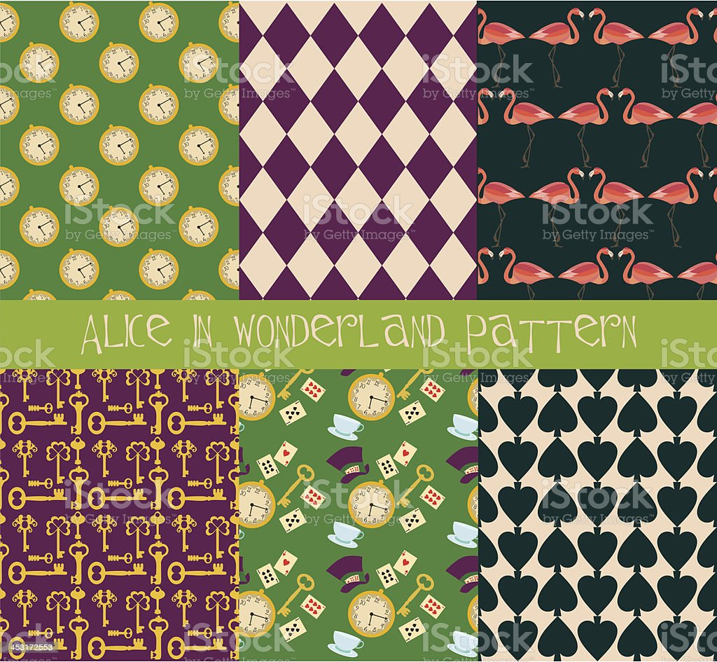 Alice in Wonderland pattern set