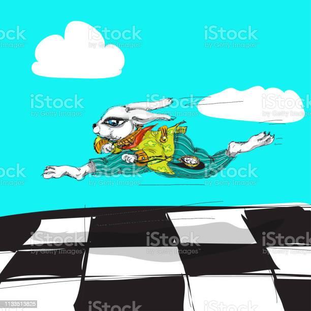Alice in wonderland running white rabbit watercolor hand drawn vector id1133513825?b=1&k=6&m=1133513825&s=612x612&h=6rviyu25lzpl10gbzzso3s0j0uhydc7kjddv8uzegmg=
