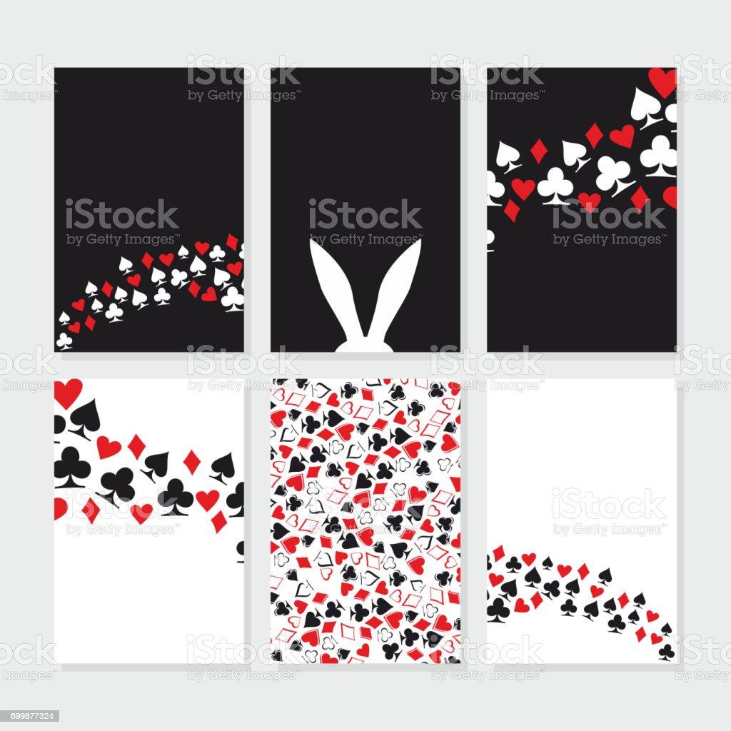 Alice in Wonderland. Set of card - illustrazione arte vettoriale
