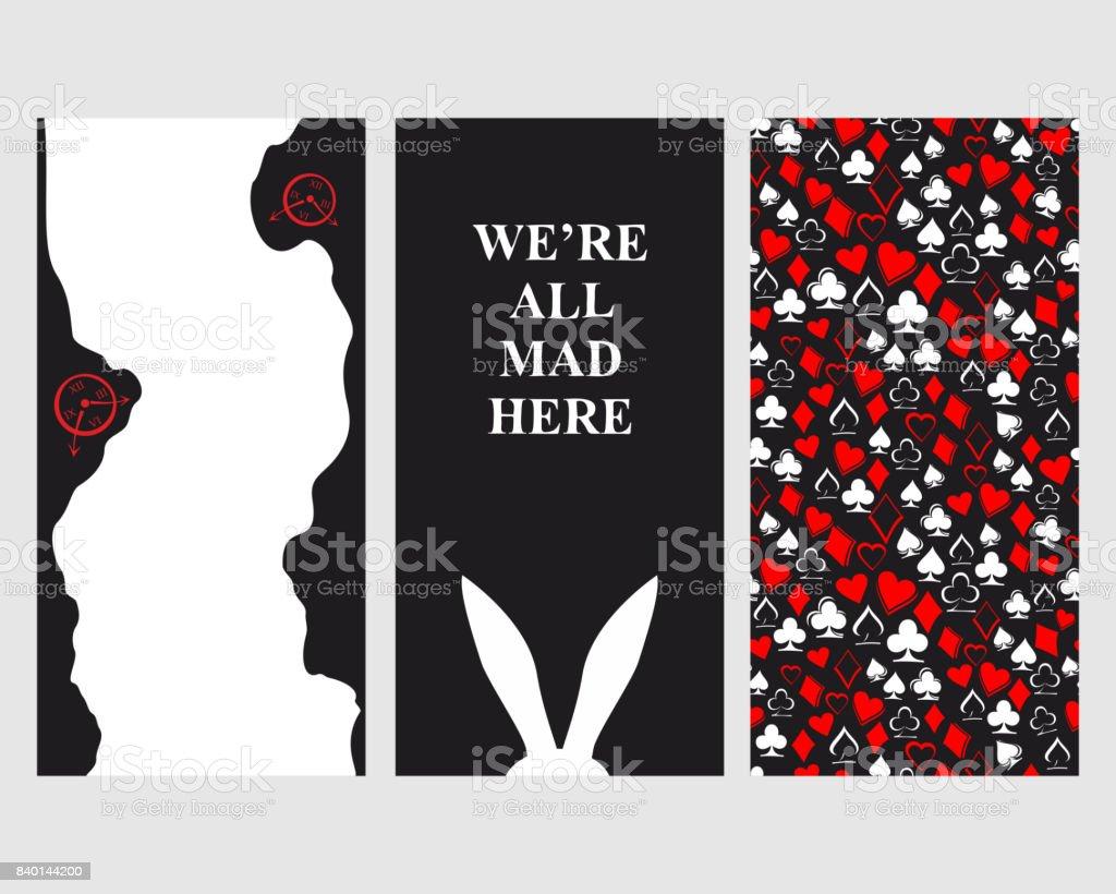 Alice in Wonderland. Set of card.