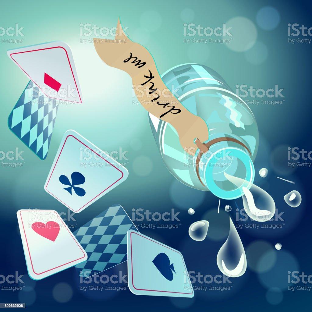 Alice in Wonderland. Vector background vector art illustration