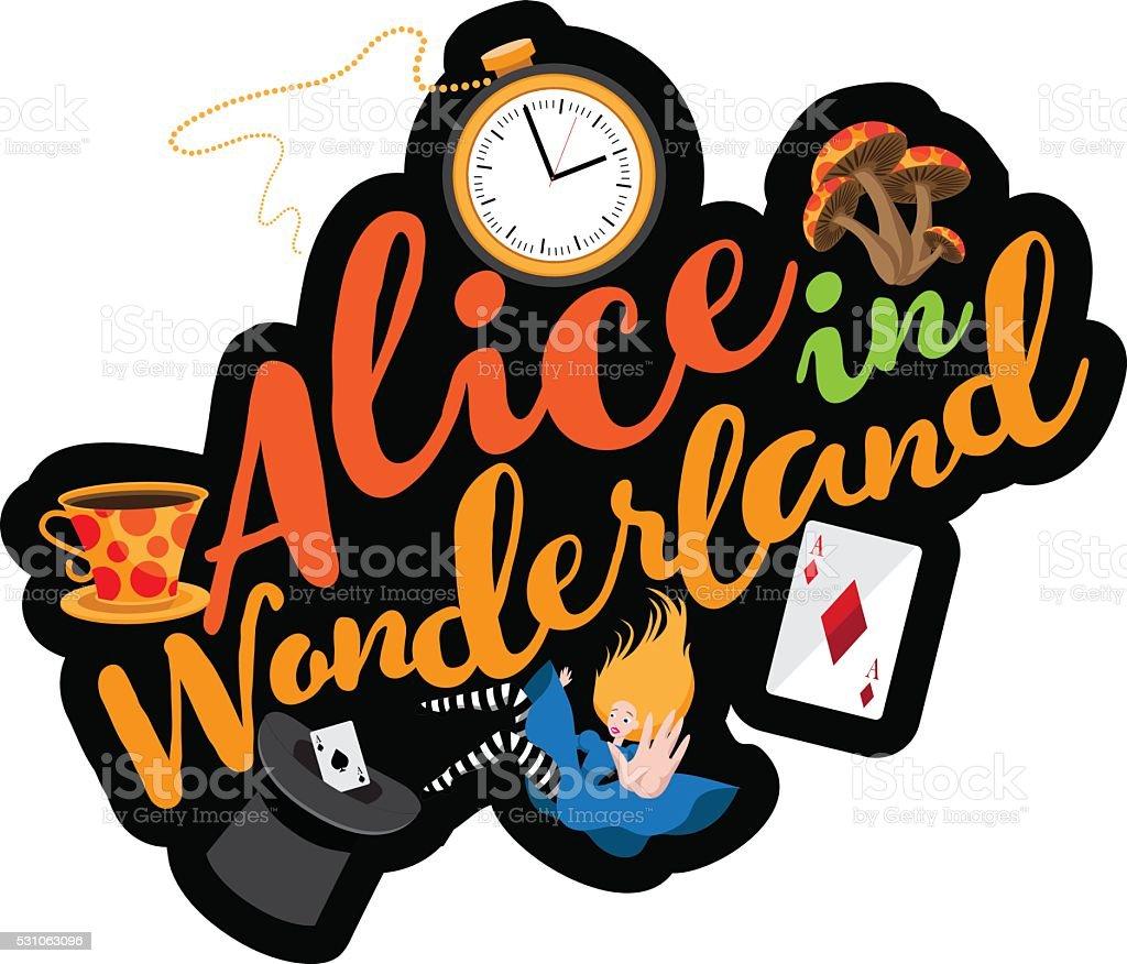 Alice testo progettazione. EPS vettoriale 10. - illustrazione arte vettoriale