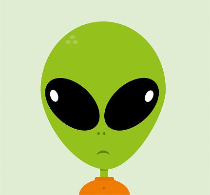 Alien cartoon character