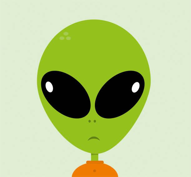 stockillustraties, clipart, cartoons en iconen met buitenaardse stripfiguur - buitenaards wezen
