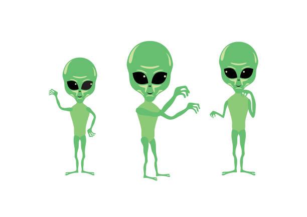 illustrazioni stock, clip art, cartoni animati e icone di tendenza di alien cartoon character - frogman