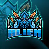 Illustration of Alien esport mascot logo design