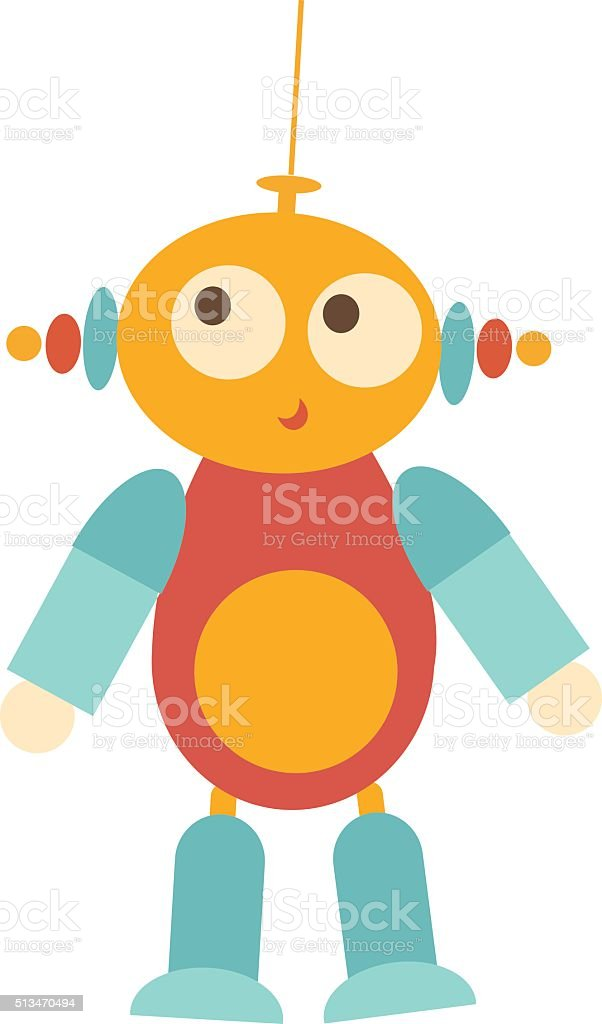 UFO, alien, extraterrestrial baby toy vector art illustration