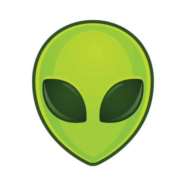 Alien face illustration vector art illustration