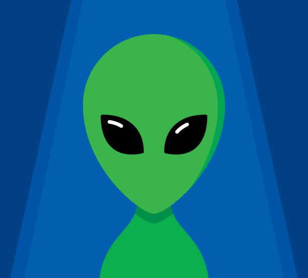 Alien Flat vector art illustration