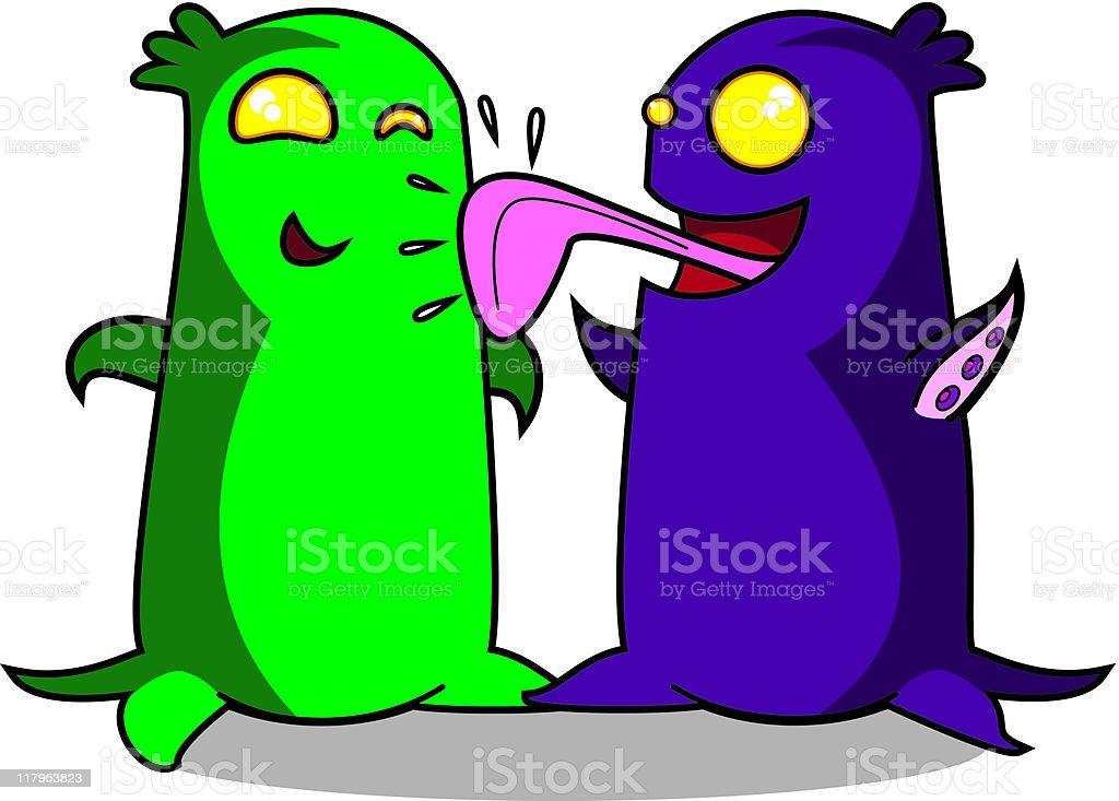 Alien friends royalty-free alien friends stock vector art & more images of alien