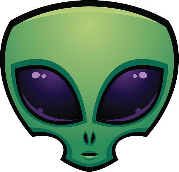Alien Head Icon vector art illustration