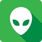 Alien Icon Silhouette