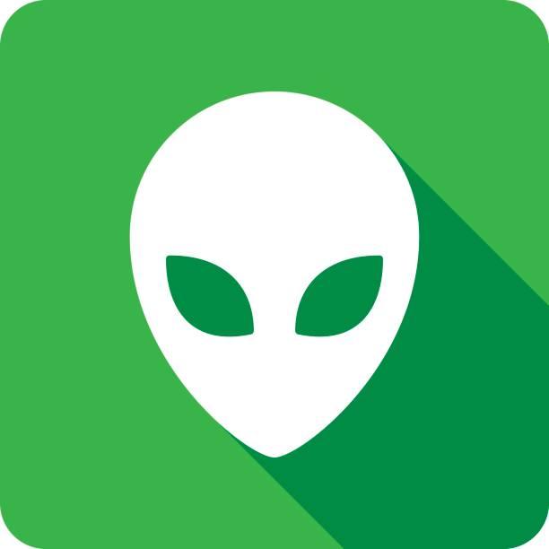 Alien Icon Silhouette vector art illustration