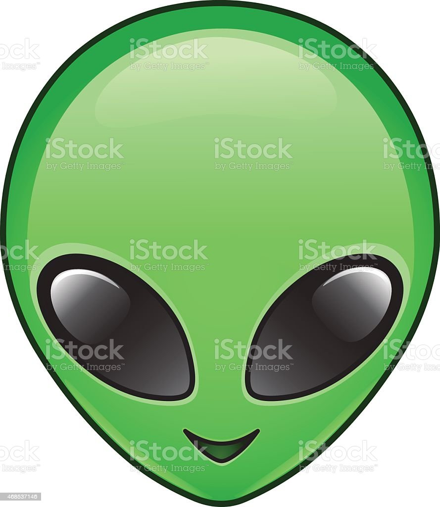 Alien icon vector art illustration