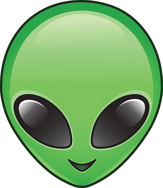 stockillustraties, clipart, cartoons en iconen met alien icon - buitenaards wezen