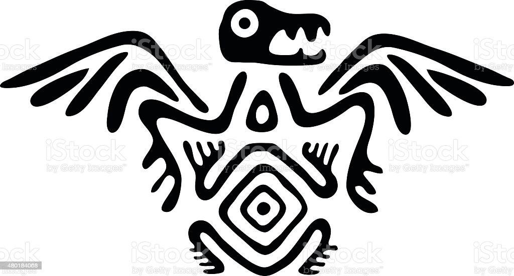 alien en estilo nativo, ilustración vectorial - ilustración de arte vectorial