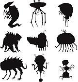 Alien monster vector illustration.