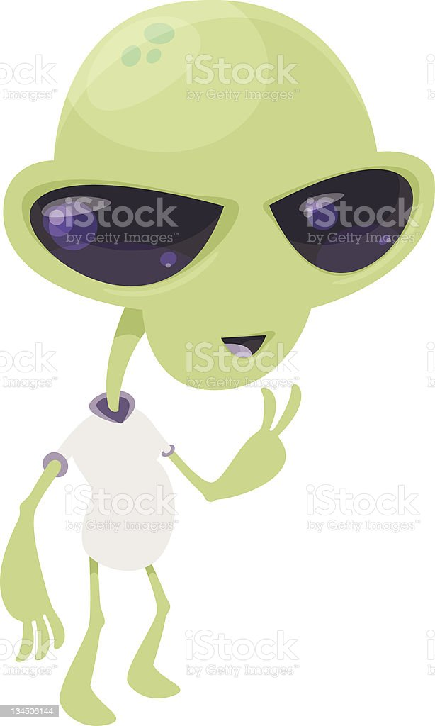Alien Peace royalty-free alien peace stock illustration - download image now