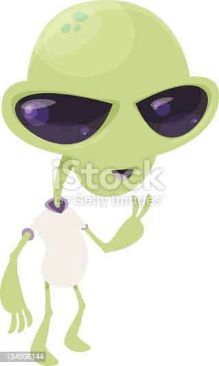 Alien Peace Stock Vector Art & More Images of Alien 134506144