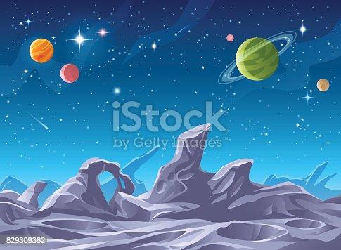 istock Alien Planet Surface 829309362