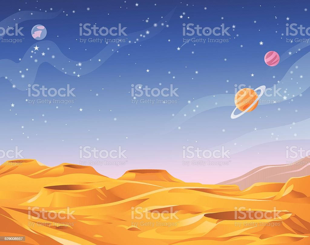 Alien Planet vector art illustration