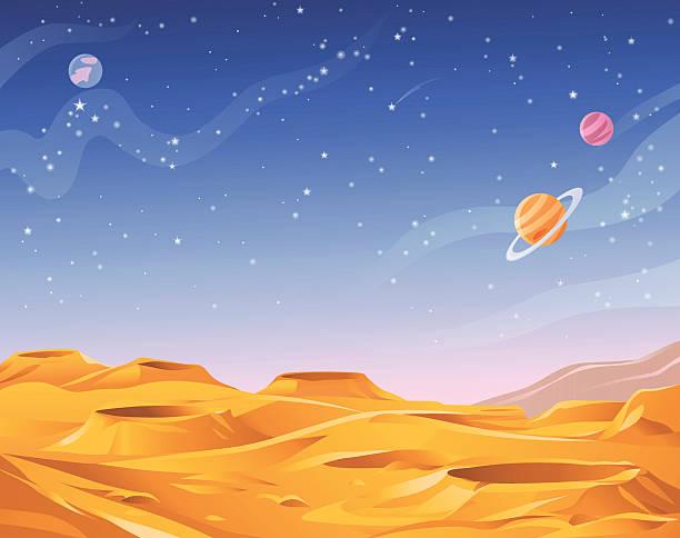 Planète Extraterrestre - Illustration vectorielle