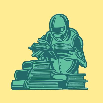 Alien Reading a Book
